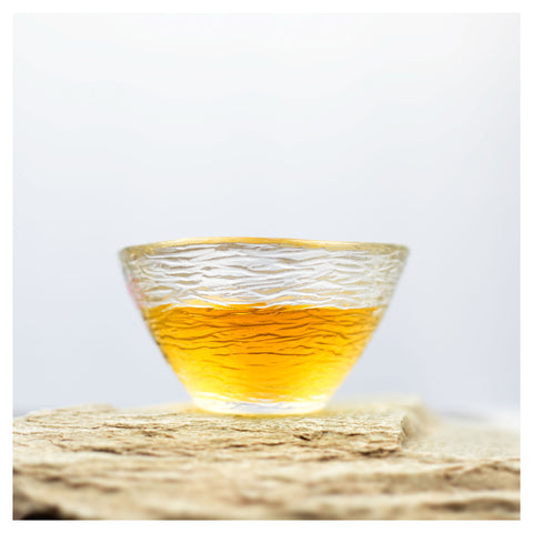 glass tea cup water pattern