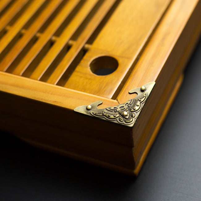 large gongfu tea tray corner plate view
