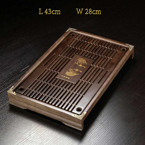 medium size Chinese tea tray for gongfu tea