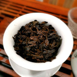 steeped tea leaves of 2013 Bu Lang Imperial ripe Pu erh