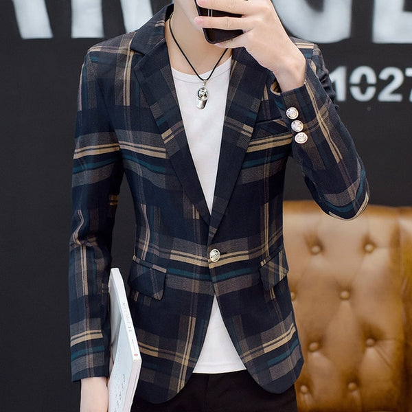 Trendy Plaid Blazer (2 colors)
