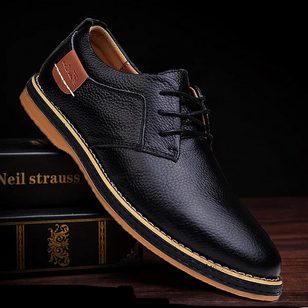 Casual Leather Oxfords (3 colors)
