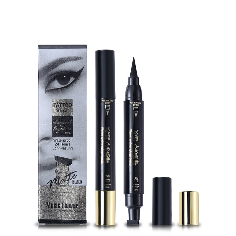 Music Flower Eyes Makeup Tattoo Seal Liquid Eyeliner Pen Beautall