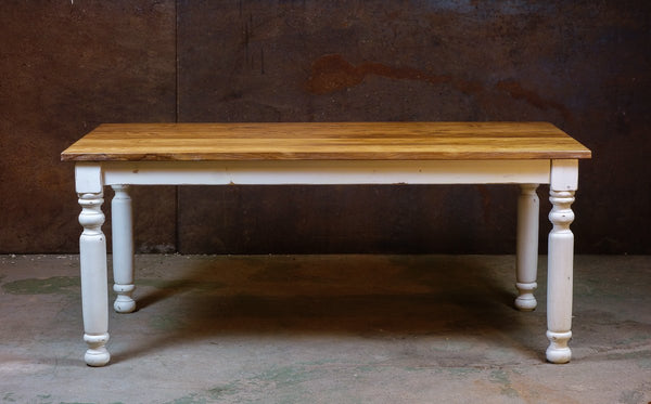 180 White Column Dining Table