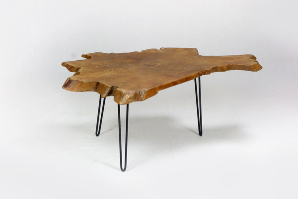 Black Hairpin-Leg Coffee Table