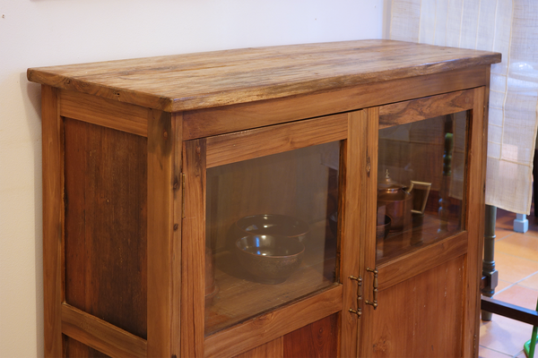 Wide Glass Cabinet
