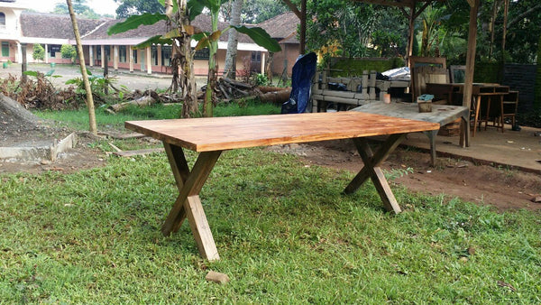 220 Cross Leg Dining Table