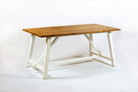 170 Rustic White Dining Table