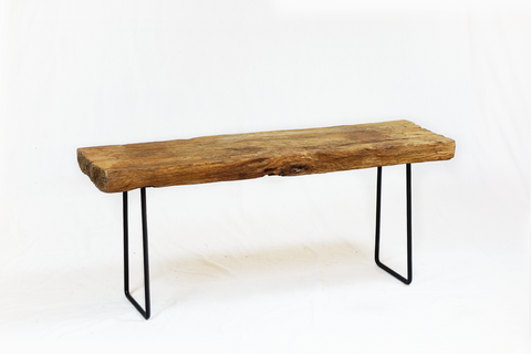 One Piece Wood Bench