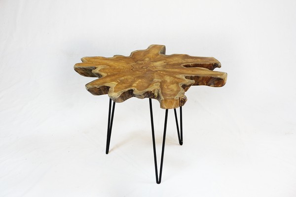 70 Teak Root Table