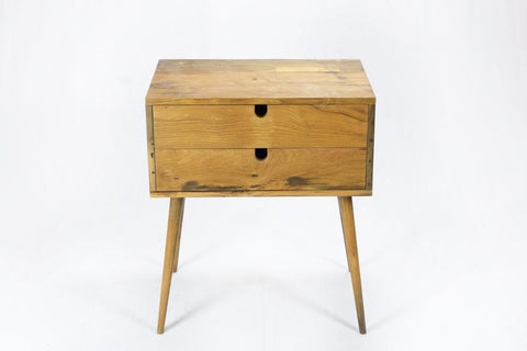 Two Drawers Side Table
