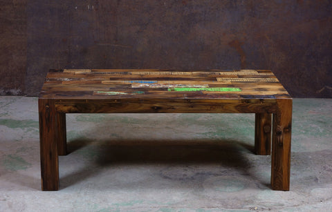 Boatwood Color Coffee Table