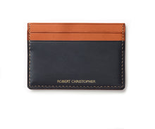 hand stitched leather Four Slot Card Holder