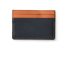 hand stitched leatherFour Slot Card Holder