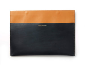 Vegetable tanned Calf skin document holder,hand-stitched, made to order