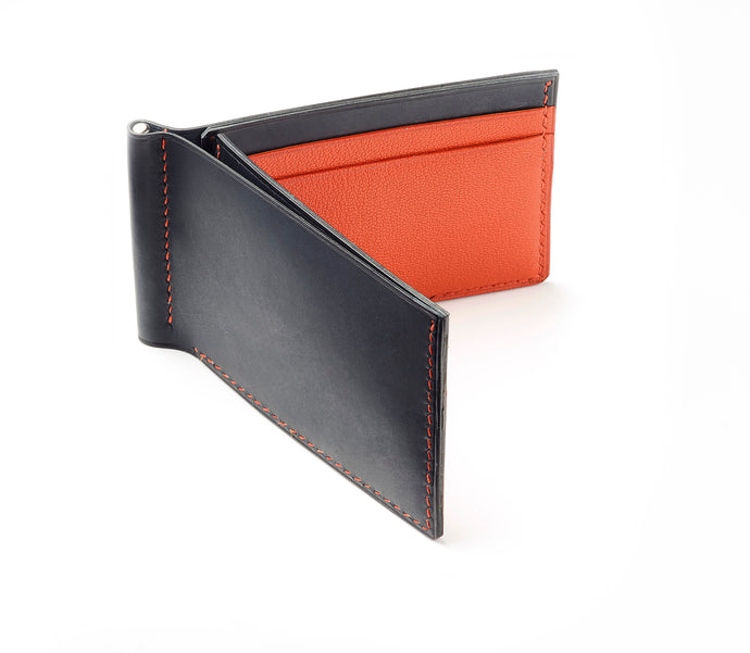 Hand-stitched Compact Money Clip Wallet.