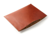 Hand-stitched leather laptop sleeve