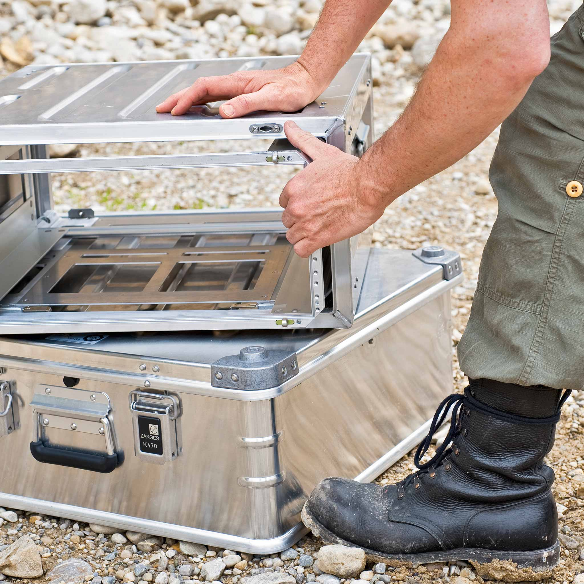 "MITRASET ZARGES 19""-Gehäuse - ARVEY mobile solargenerator and portable power solutions"