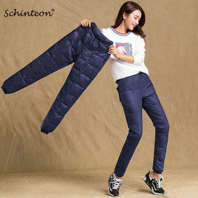 Pants Elastic Waist Trousers Winter