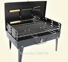 BBQ Portable Folding Charcoal BBQ Grill for 3 - 5 Person