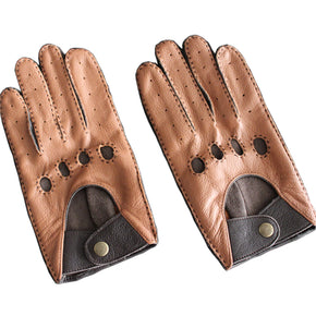 Leather Gloves Wrist Breathable