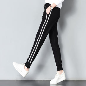 Long Leisure Pants Women Bottoms Autumn Spring Female Clothes Double Striped Jogger Haren Pants Sweatpants Sportswear Trousers