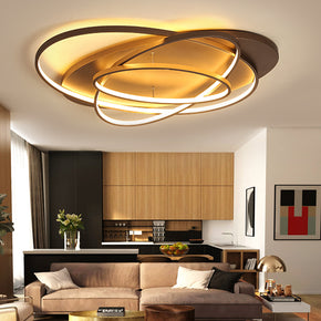 Luminaires Rings Creative Modern LED Chandelier