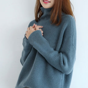 Women Sweater 100% Cashmere and Wool Knitting Jumpers