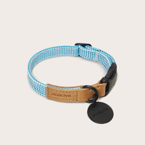 Cloud blue ribbon type collar