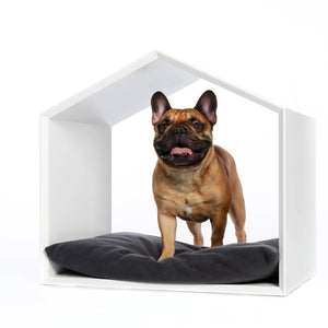 White bong dog house for small and medium size dogs. Interior collection Concept-pet.