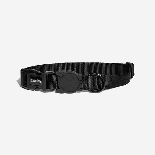 Black dog collar. Collar collection Concept-pet.