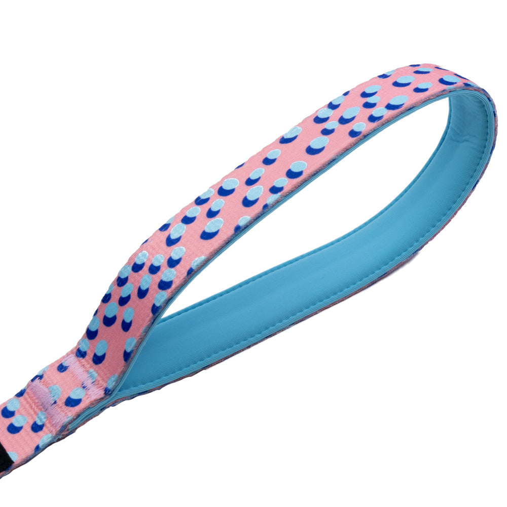 Kawaii Pinku - Pink - Padded Dog Leash - Monro Pets - Royal Blue and Light Blue - Padded Handle