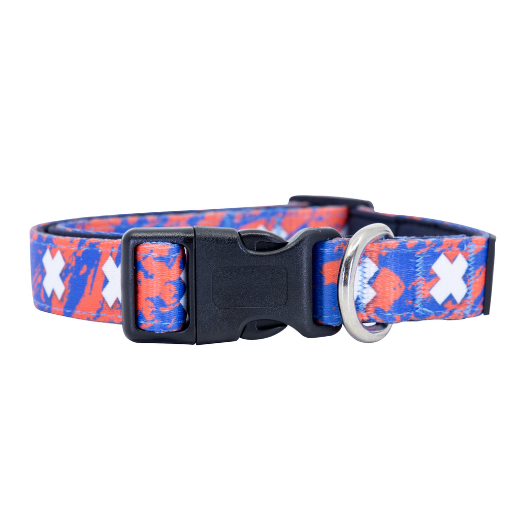 Atomic Coral Dog Collar Buckle and D-Ring Product Shot