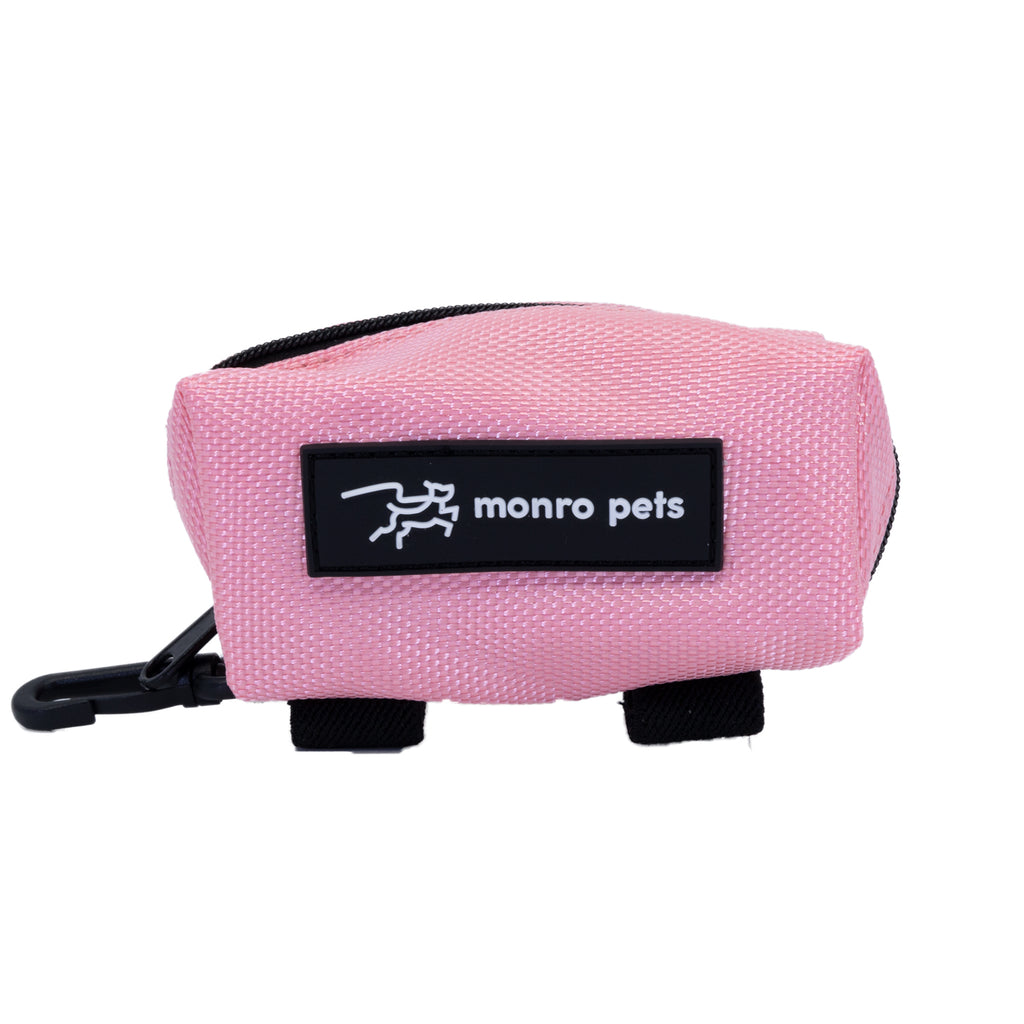 dog-bag-carrier-poop-bag-holder-pink-front-view