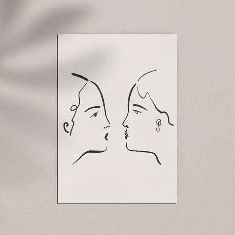 'The Kiss' Giclée Print