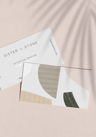 Abstract Collage Business Card Template (Digital File)