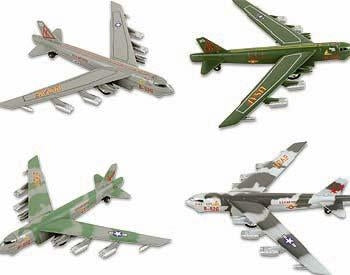 6 Die Cast Pull Back B-52 Bombers