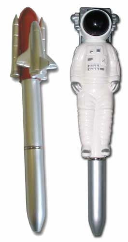 Space Shuttle and Astronaut Pen Set