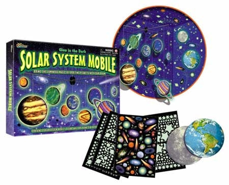 Glow in the Dark Solar System Mobile