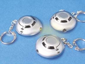 Light Up Space Ship Keychains