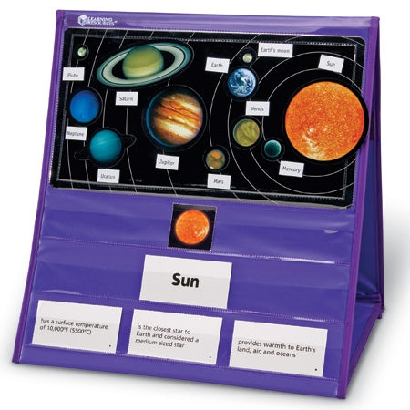 Solar System Magnetic Tabletop Pocket Chart