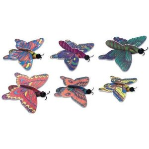 Six butterfly gliders