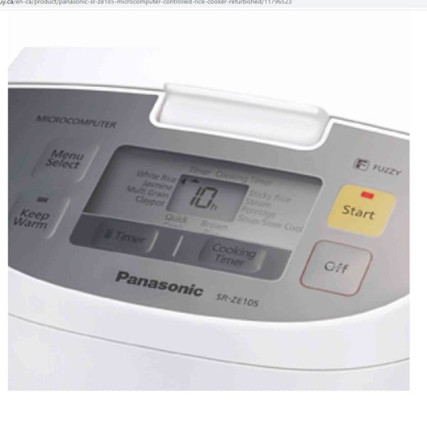 Panasonic SR-ZE185 10n cup Rice Cooker -Refurbished/90 days Warranty