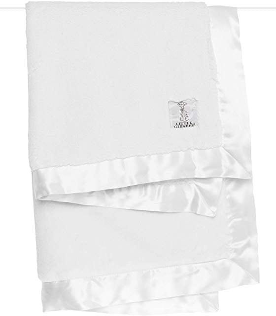 Little Giraffe Luxe Blanket White