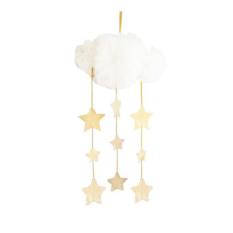 Tulle Cloud Mobile- Gold and Ivory