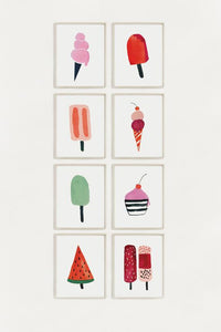 Ice Cream and Lollies Wall Art