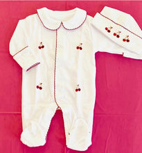 Load image into Gallery viewer, Petit Tresor Luxe Layette Set: Cherry Pie