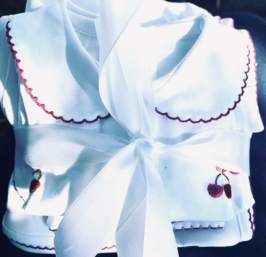 Petit Tresor Luxe Layette Set: Cherry Pie