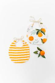 Clementine Orange Bib Set