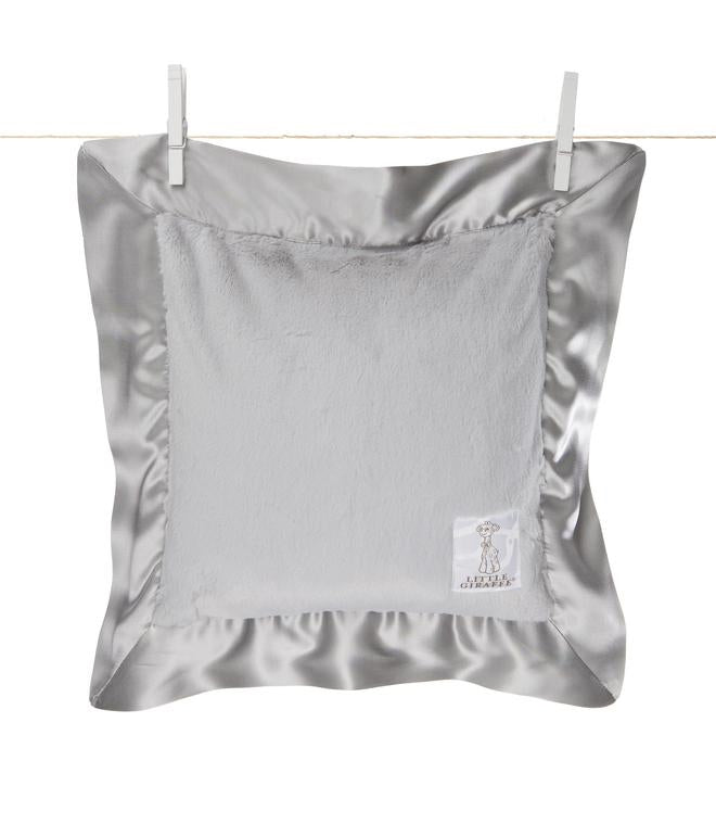 Little Giraffe Silver Luxe Pillow